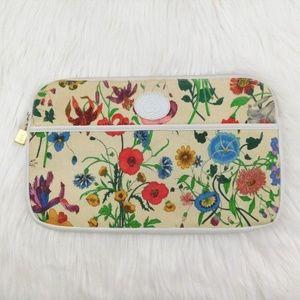 Gucci Vintage Flora Large Clutch Purse Canvas